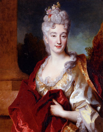 Portrait Of A Lady Said To Be The Comtesse De Courcelles | Nicolas De Largilliere | Oil Painting