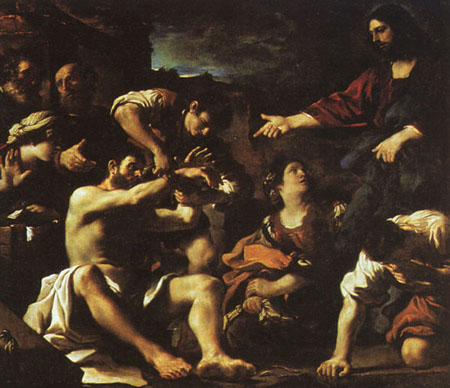 Raising of Lazarus 1619 | Guercino | Oil Painting
