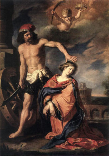 Martyrdom of St Catherine 1653 | Guercino | Oil Painting