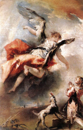 The Angel Appears to Tobias 1750 | Giovanni Antonio Guardi | Oil Painting