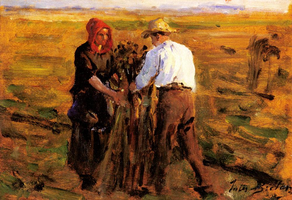 Mise En Tas Des Oeillettes | Jules Breton | Oil Painting