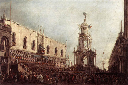 Carnival Thursday on the Piazzetta 1766 1770 | Francesco Guardi | Oil Painting