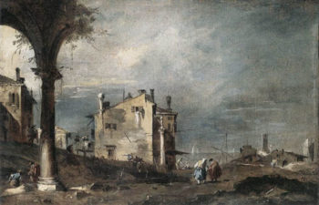 Capriccio with Venetian Motifs 1760 | Francesco Guardi | Oil Painting