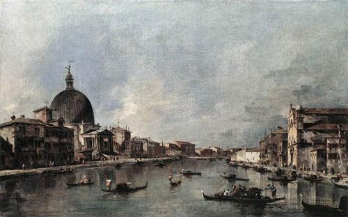 The Grand Canal with San Simeone Piccolo and Santa Lucia 1780 | Francesco Guardi | Oil Painting