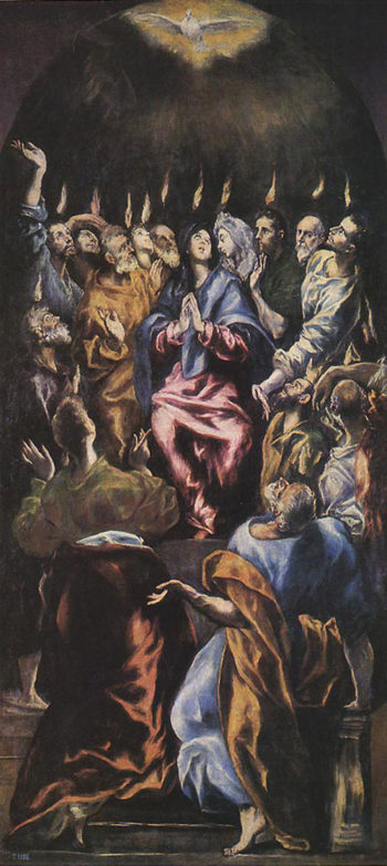 Pentecost 1596 1600 | El Greco | Oil Painting