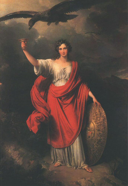 Allegory of the Hungarian Academy of Sciences 1831   Johann Nepomuk Ender   Oil Painting