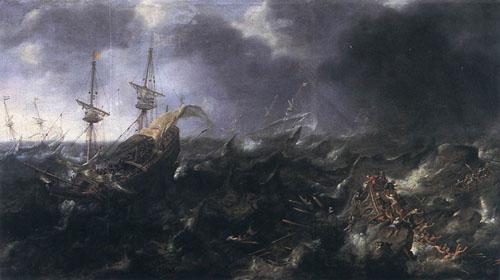 Ships in Peril 1623 | Andries van Eertvelt | Oil Painting