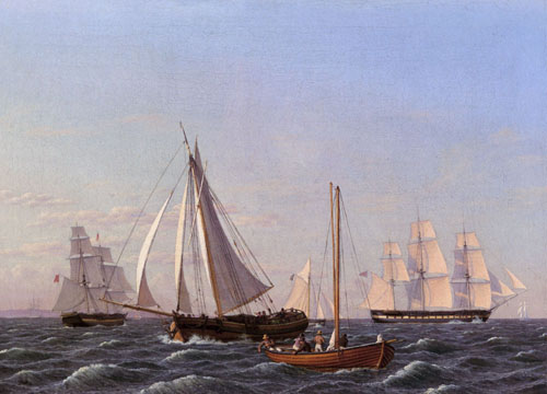 Sailing Ships 1825 | Christoffer Wilhelm Eckersberg | Oil Painting