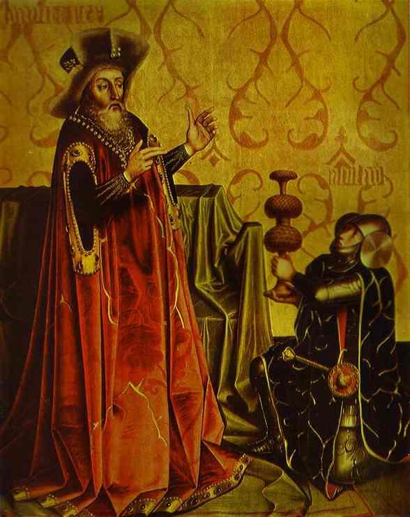 Abishai Kneeling Before David 1435 | Konrad Witz | Oil Painting