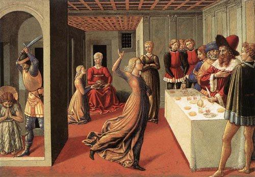 The Dance of Salome 1461 1462   Benozzo di Lese di Sandro Gozzoli   Oil Painting