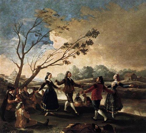 Dance of the Majos at the Banks of Manzanares 1777   Francisco de Goya   Oil Painting