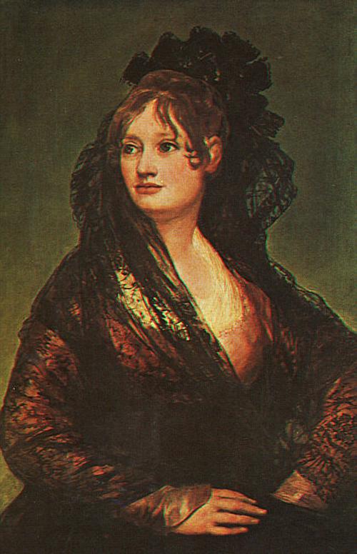 Dona Isabel Cobos de Porcel 1806   Francisco de Goya   Oil Painting
