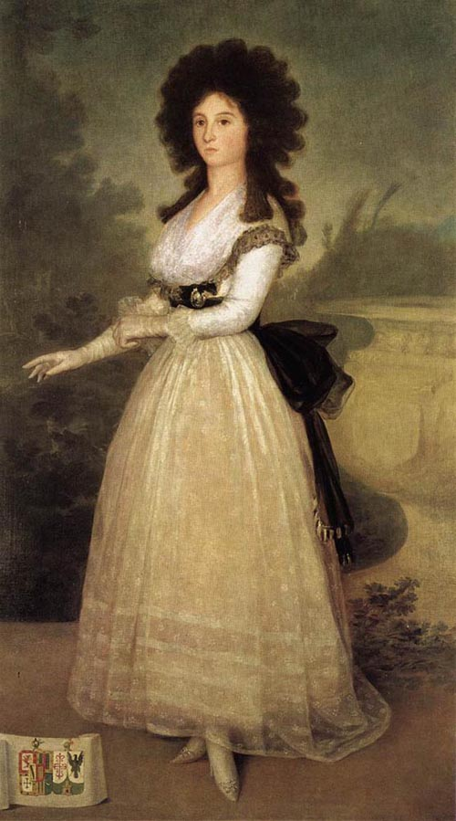 Dona Tadea Arias de Enriquez 1793   Francisco de Goya   Oil Painting