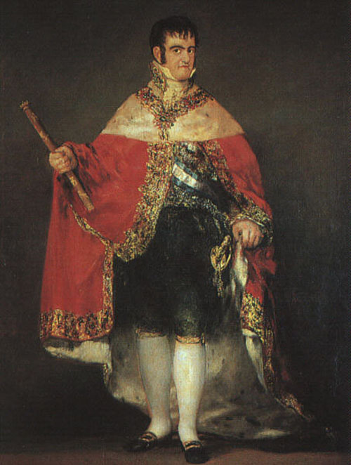 Ferdinand VII in his Robes of State 1814   Francisco de Goya   Oil Painting