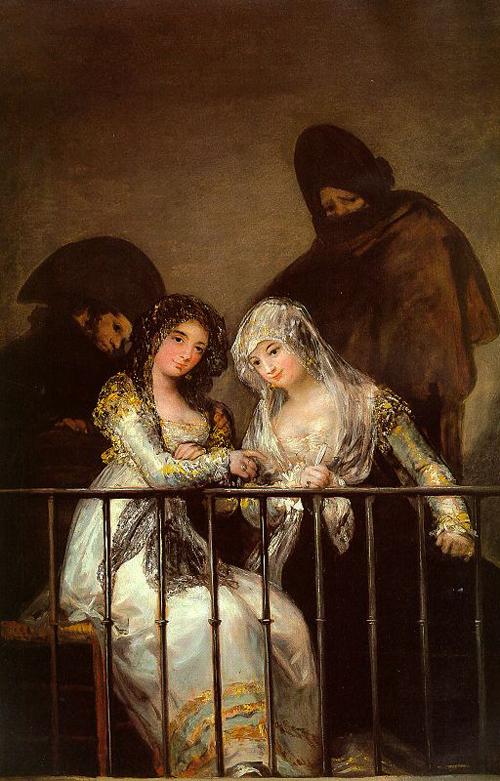 Majas on a Balcony   Francisco de Goya   Oil Painting