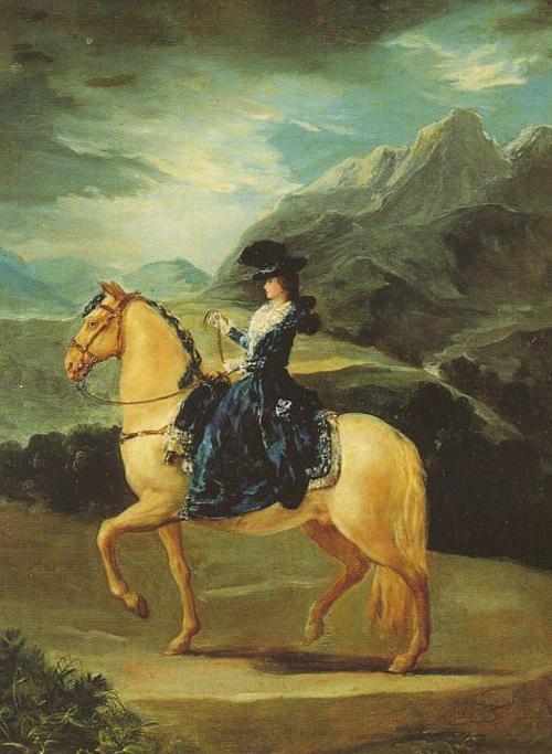 Maria Teresa of Vallabriga on Horseback 1783 | Francisco de Goya | Oil Painting