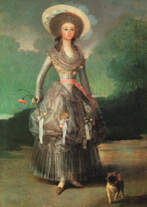 Marquesa de Pontejos 1786   Francisco de Goya   Oil Painting