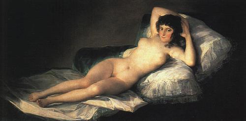 Nude Maja 1800   Francisco de Goya   Oil Painting