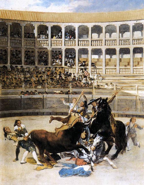 Picador Caught by the Bull 1793   Francisco de Goya   Oil Painting