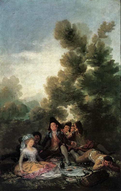 Picnic 1788   Francisco de Goya   Oil Painting