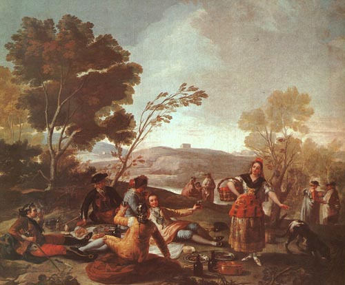 Picnic on the Banks of the Manzanares 1776   Francisco de Goya   Oil Painting