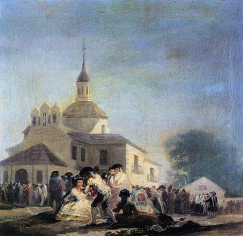 Pilgrimage to the Church of San Isidro 1788   Francisco de Goya   Oil Painting