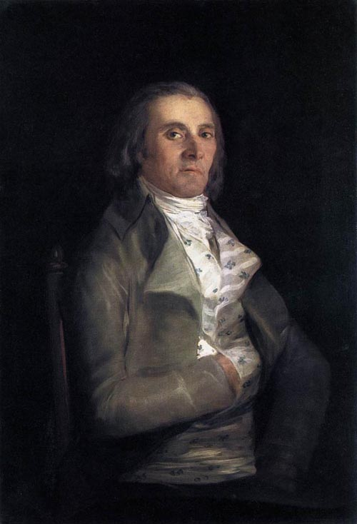 Portrait of Andres del Peral 1798   Francisco de Goya   Oil Painting