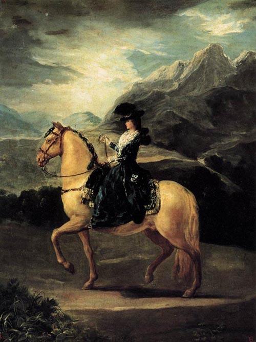 Portrait of Maria Teresa de Vallabriga on Horseback 1783 | Francisco de Goya | Oil Painting