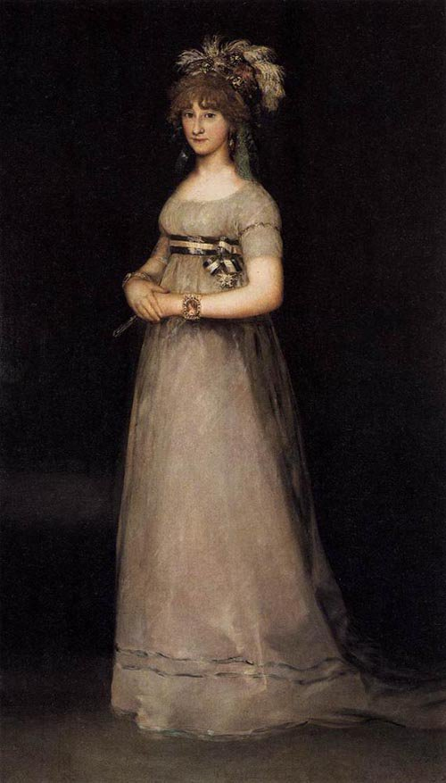 Portrait of the Countess of Chinchon 1797 1800   Francisco de Goya   Oil Painting