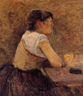 At Gennelle Absinthe Drinker 1886 | Henri Toulouse Lautrec | Oil Painting