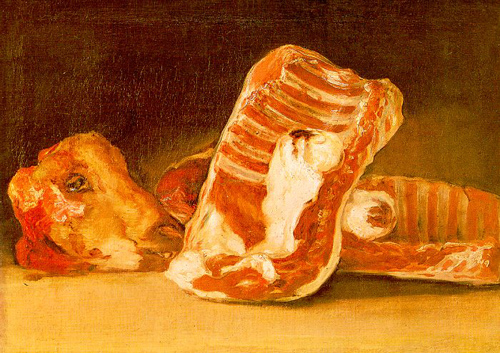 Still life with sheeps head | Francisco de Goya | Oil Painting