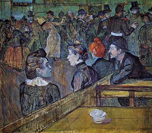 At the Moilin de la Galette Dance Hall 1889 | Henri Toulouse Lautrec | Oil Painting