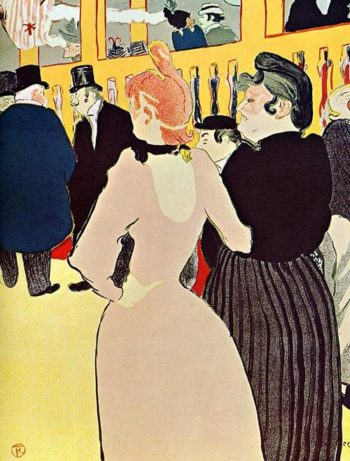 At the Moulin Rouge La Goulue with Her Sister 1892 | Henri Toulouse Lautrec | Oil Painting
