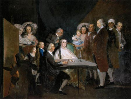 The Family of the Infante Don Luis 1783   Francisco de Goya   Oil Painting
