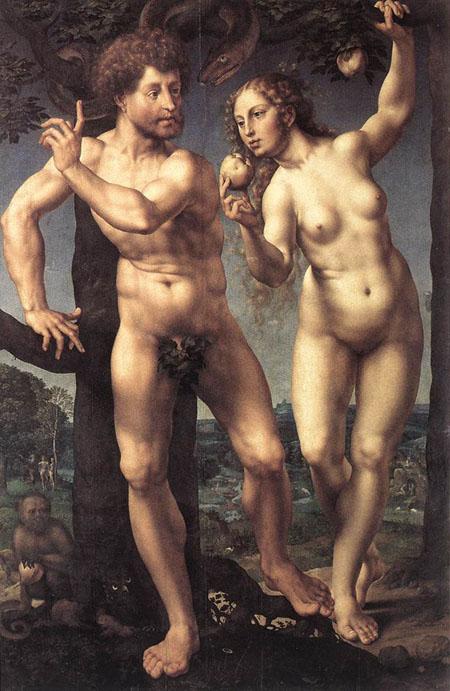 Adam and Eve 1525 | Jan Gossaert | Oil Painting