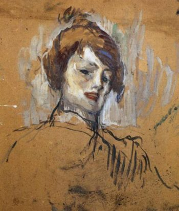 Head of a Woman 1896 | Henri Toulouse Lautrec | Oil Painting