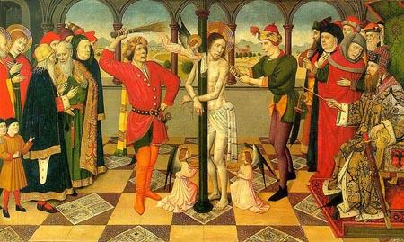 The Flagellation of Christ 1450 | Jaume Huguet | Oil Painting