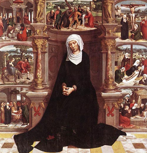 Our Lady of the Seven Sorrows 1518 1535   Adriaen Isenbrandt   Oil Painting