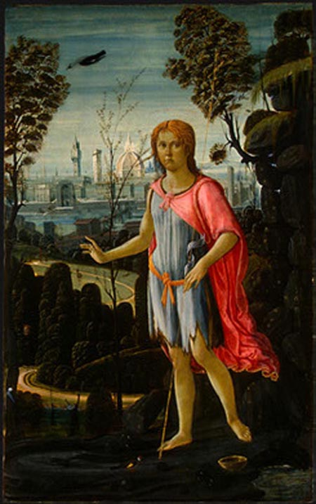 Saint John the Baptist 1480   Jacopo del Sellaio   Oil Painting