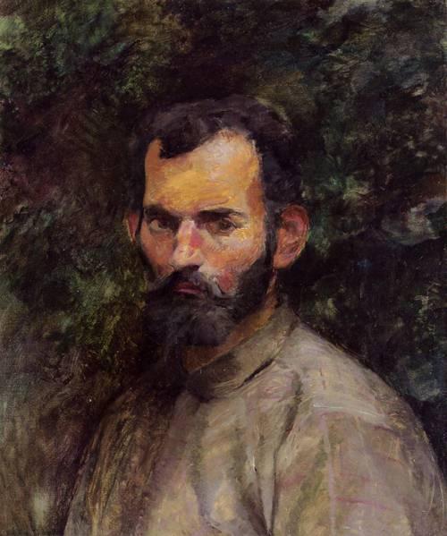 Man's Head 1883   Henri Toulouse Lautrec   Oil Painting