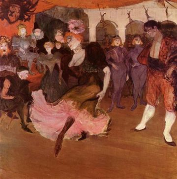 Marcelle Lender Dancing in the Bolero in Chilperic 1895 | Henri Toulouse Lautrec | Oil Painting
