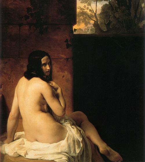 Susanna al bagno 1850 | Francesco Hayez | Oil Painting