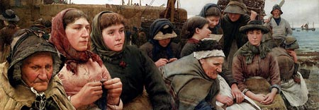 Waiting For The Boats 1885 | Walter Langley | Oil Painting