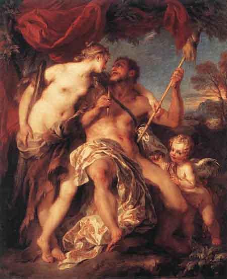 Hercules and Omphale 1724   Francois Lemoyne   Oil Painting