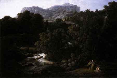 Mountain Scene 1796 | Joseph Anton Koch | Oil Painting