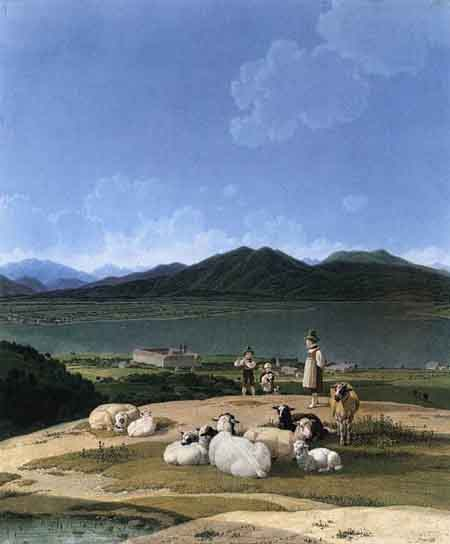 View of Lake Tegern 1833 | Wilhelm von Kobell | Oil Painting
