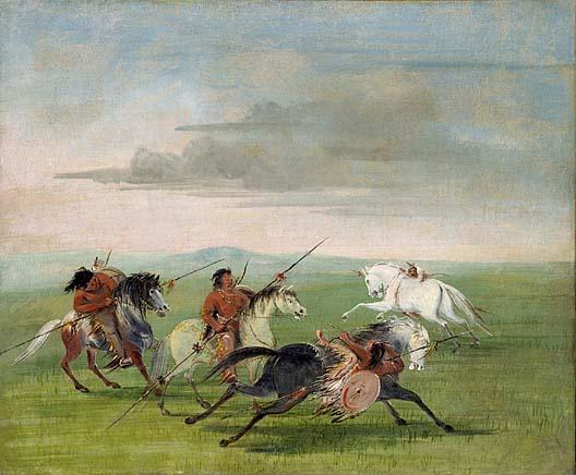 Comanche Feats of Horsemanship 1834 1835 | George Catlin | Oil Painting