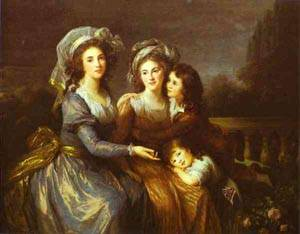 The Marquise De Peze And The Marquise De Rouget With Her Two Children 1787   Louise Elisabeth Vigee Le Brun   Oil Painting