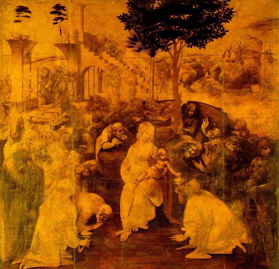 Adoration of the Magi | Leonardo Da Vinci | Oil Painting