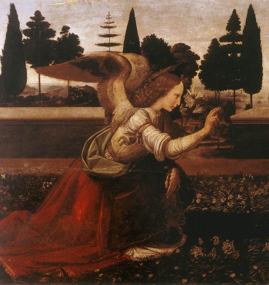 Annunciation detail1 | Leonardo Da Vinci | Oil Painting
